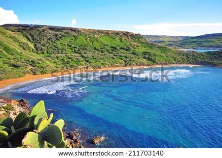 Mediterranean landscape, Malta - stock photo