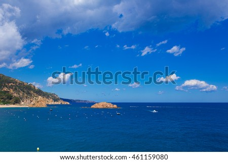 Mediterranean landscape with rocks and blue sky