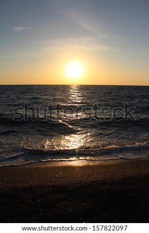 Mediterranean Sea and Sunset