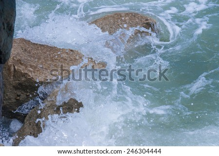 Mediterranean Sea Coast line near Rimini, Italy - stock photo
