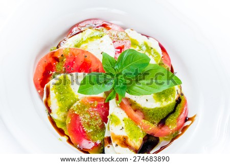 Mediterranean-Style Salad with becon  - stock photo