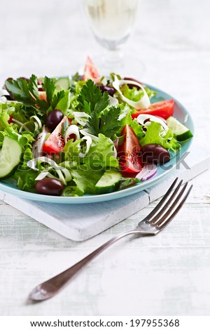 Mediterranean-Style Salad with Olives
