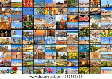 Mediterranean vacation collage photos  - stock photo
