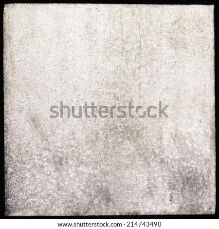 Medium format film frame, grain textured background - stock photo