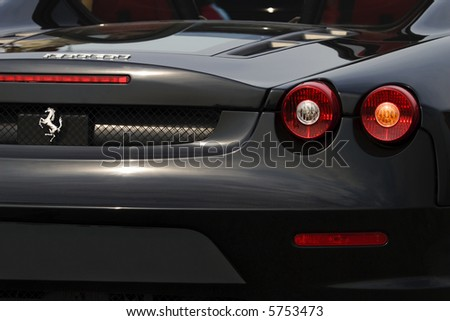 medium shot of rear part ferrari f430 spider