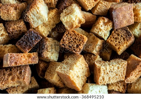 medium-sized fried croutons