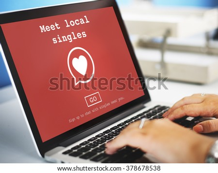 Meet Local Singles Dating Online Concept - stock photo