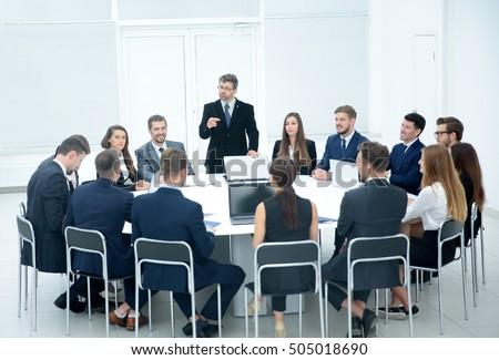 Bon Meeting Brainstorm Round Table Ideas Communication Discussion