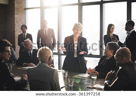 Meeting Corporate Success Brainstorming Teamwork Concept - stock photo