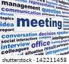 Meeting creative business words. Professional discussion conceptual design - stock photo