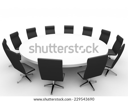 Meeting. 3D illustration. - stock photo