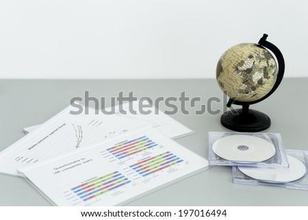 Meeting document - stock photo