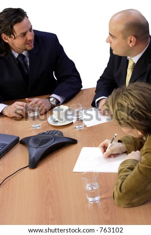 Meeting isolated - stock photo