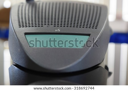 Meeting microphone, Selective focus - stock photo