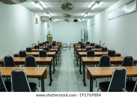 Meeting modern conference room interior, Business and learning