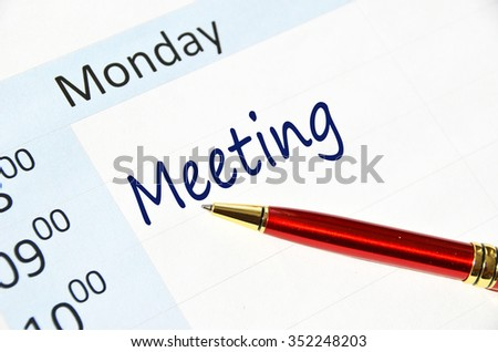 Meeting note in the agenda