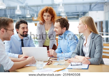 Meeting of business people - stock photo