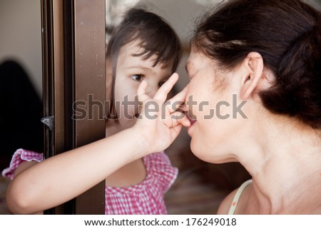 Meeting relatives - stock photo