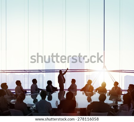 Meeting Room Business Meeting Leadership COncept - stock photo