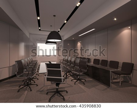 Meeting room design 3D interior render