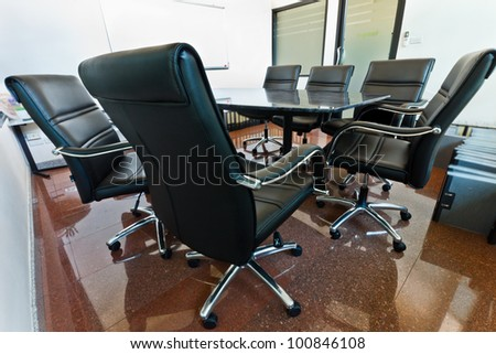 Meeting room in office for executive present idea about works.