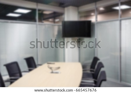 Meeting Room In The Office Blurred Background For Design