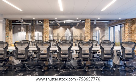 Meeting Room Office Workplace Office Meeting Stock Illustration