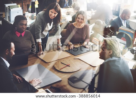 Meeting Sharing Discussion Planning Seminar Concept - stock photo