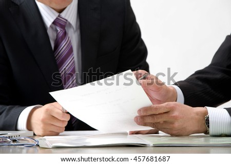 Meeting to businessman