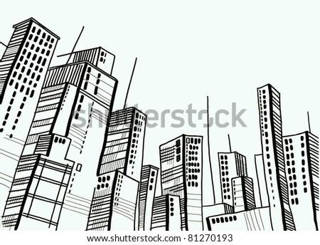 mega city - stock photo