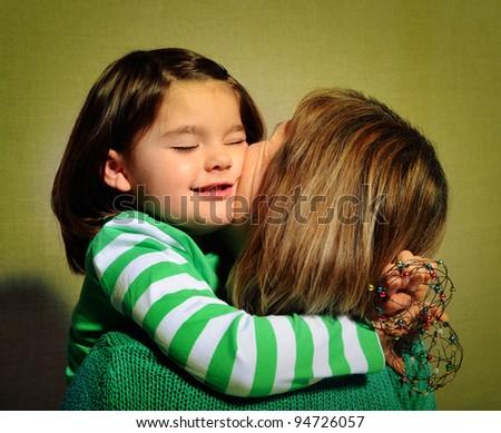 mega hug - stock photo