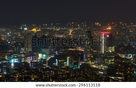 megalopolis night lights