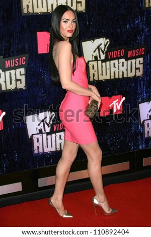 Megan Fox arriving at the 2007 MTV Video Music Awards. The Palms Hotel And Casino, Las Vegas, NV. 09-09-07 - stock photo