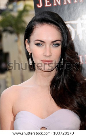 Megan Fox at a In Store Appearance by the Cast of 'Jennifer's Body'. Hot Topic, Hollywood, CA. 09-16-09 - stock photo