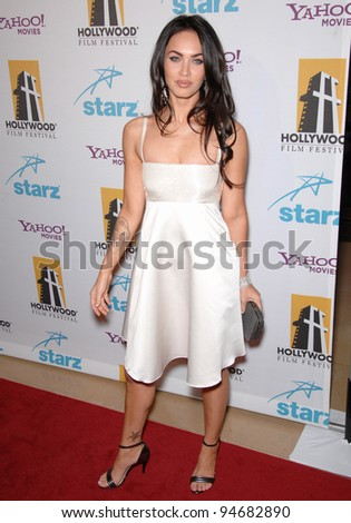 Megan Fox at the Hollywood Film Festival's 11th Annual Hollywood Awards at the Beverly Hilton Hotel. October 23, 2007  Los Angeles, CA Picture: Paul Smith / Featureflash - stock photo