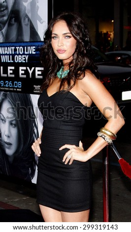 Megan Fox at the Los Angeles Premiere of Eagle Eye held at the Grauman Chinese Theater in Hollywood, California, United States on September 16, 2008.
