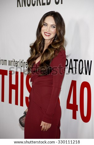 """Megan Fox at the Los Angeles Premiere of """"This Is 40"""" held at the Grauman's Chinese Theatre in Los Angeles, California, United States on December 10, 2012.   - stock photo"""