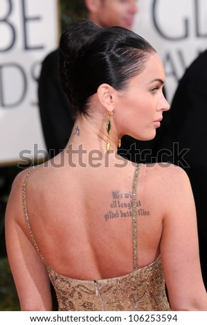 Megan Fox at the 66th Annual Golden Globe Awards. Beverly Hilton Hotel, Beverly Hills, CA. 01-11-09 - stock photo