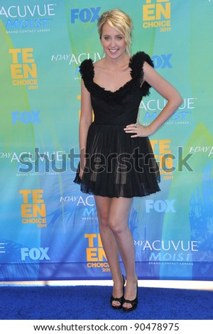 Megan Park at the 2011 Teen Choice Awards at the Gibson Amphitheatre, Universal Studios, Hollywood. August 7, 2011  Los Angeles, CA Picture: Paul Smith / Featureflash