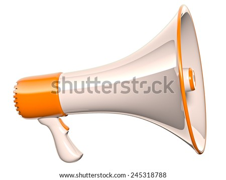 Megaphone - stock photo