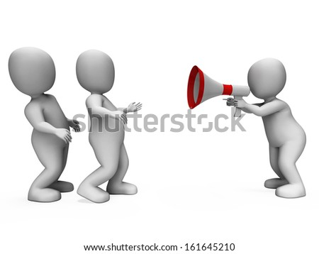 Megaphone Character Showing Motivation Leadership And Do It