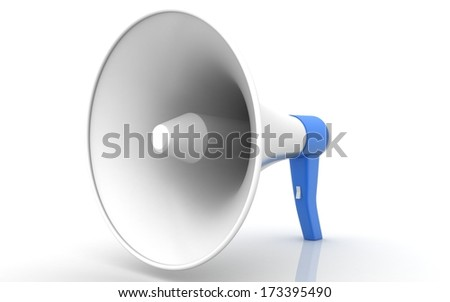 Megaphone. 3d image. Isolated white background. - stock photo