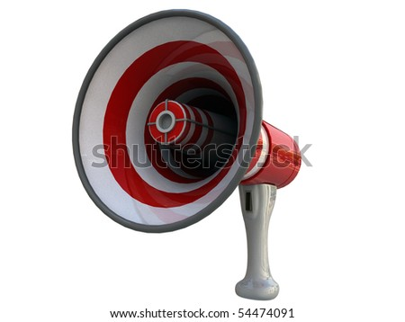 megaphone isolated on white background - stock photo