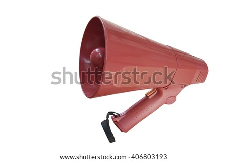 Megaphone isolated on white background. This has clipping Path.