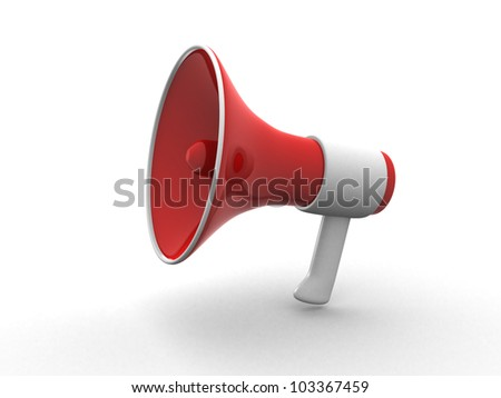 megaphone isolated on white. 3d render