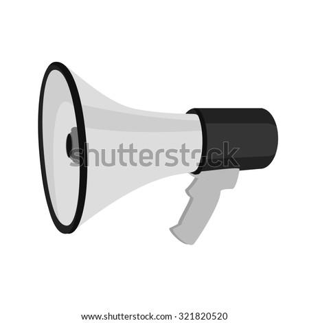 Megaphone, megaphone isolated, megaphone icon, magephone raster - stock photo