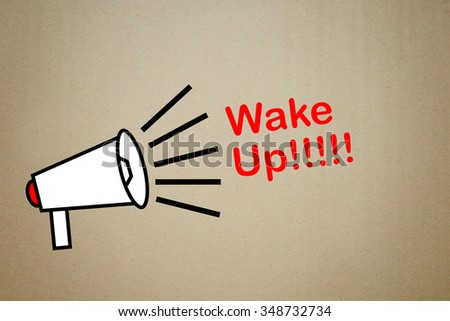 megaphone with text wake up - stock photo