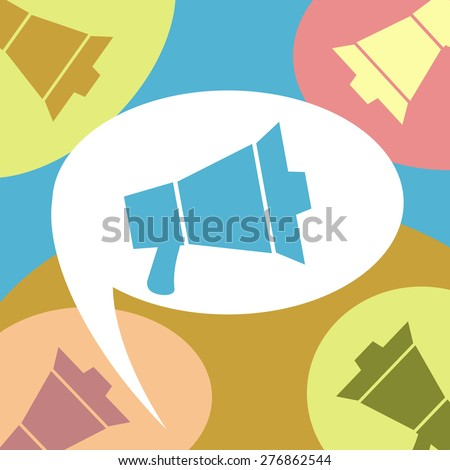 Megaphones - stock photo