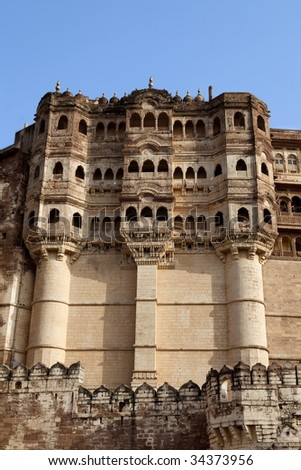 Meherangarh Fort in the beautiful city of jodhpur in rajasthan state in indi