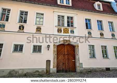 Meissen, the famous castle Albrechtsburg in Saxony, Germany - stock photo